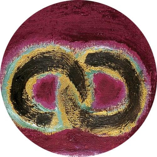 Yksityiskohta taidemaalari Markku J. Rantalan teoksesta.