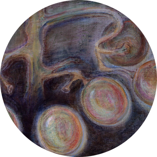 Yksityiskohta taidemaalari Pamela Brandtin teoksesta.