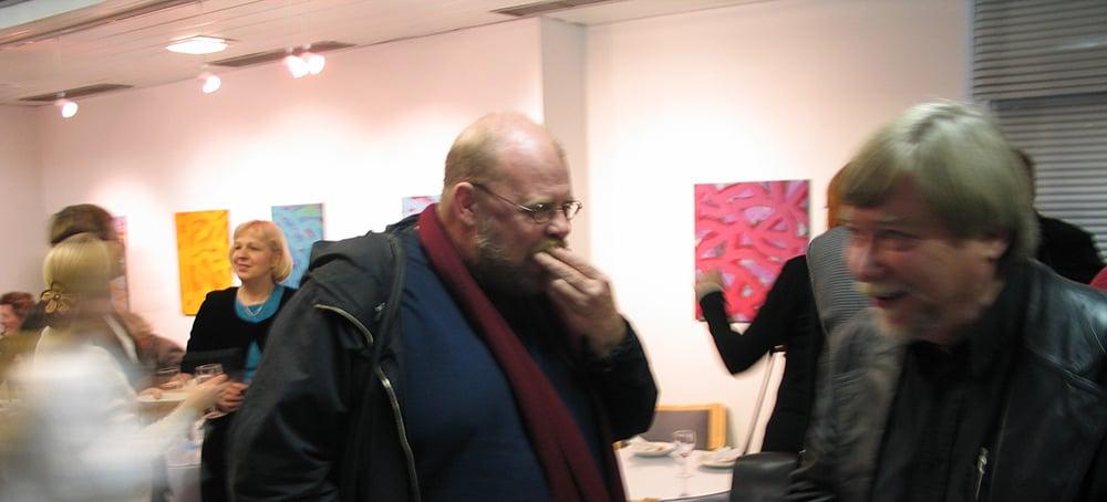 Taidemaalari Olavi Pajulahden näyttelyn avajaiset.
