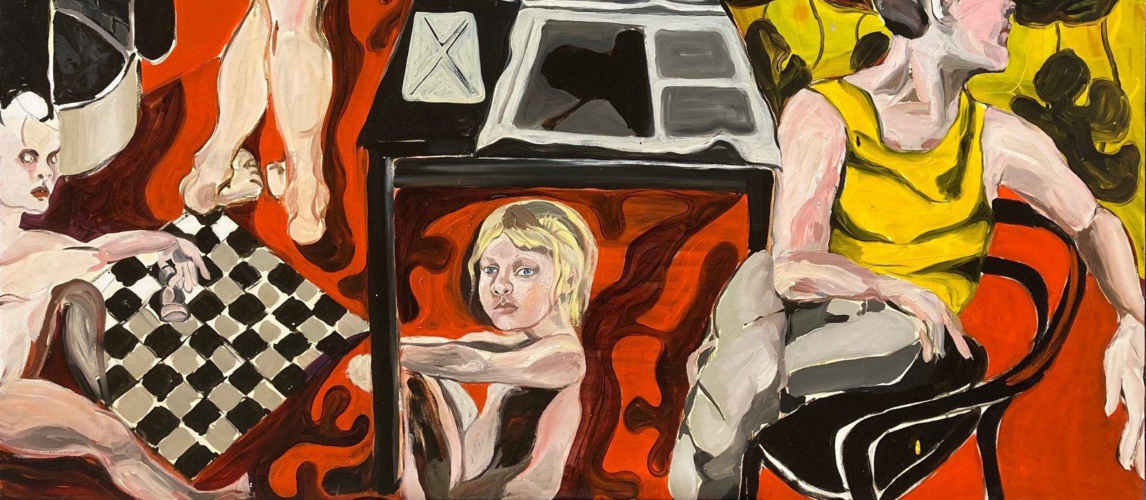 yksityskohta taidemaalari Siiri Haarlan teoksesta