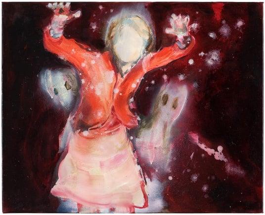 Yksityiskohta taidemaalari Anna Tuorin teoksesta.