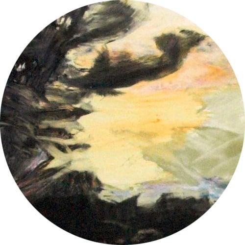 Yksityiskohta taidemaalari Inkeri Makkosen teoksesta.