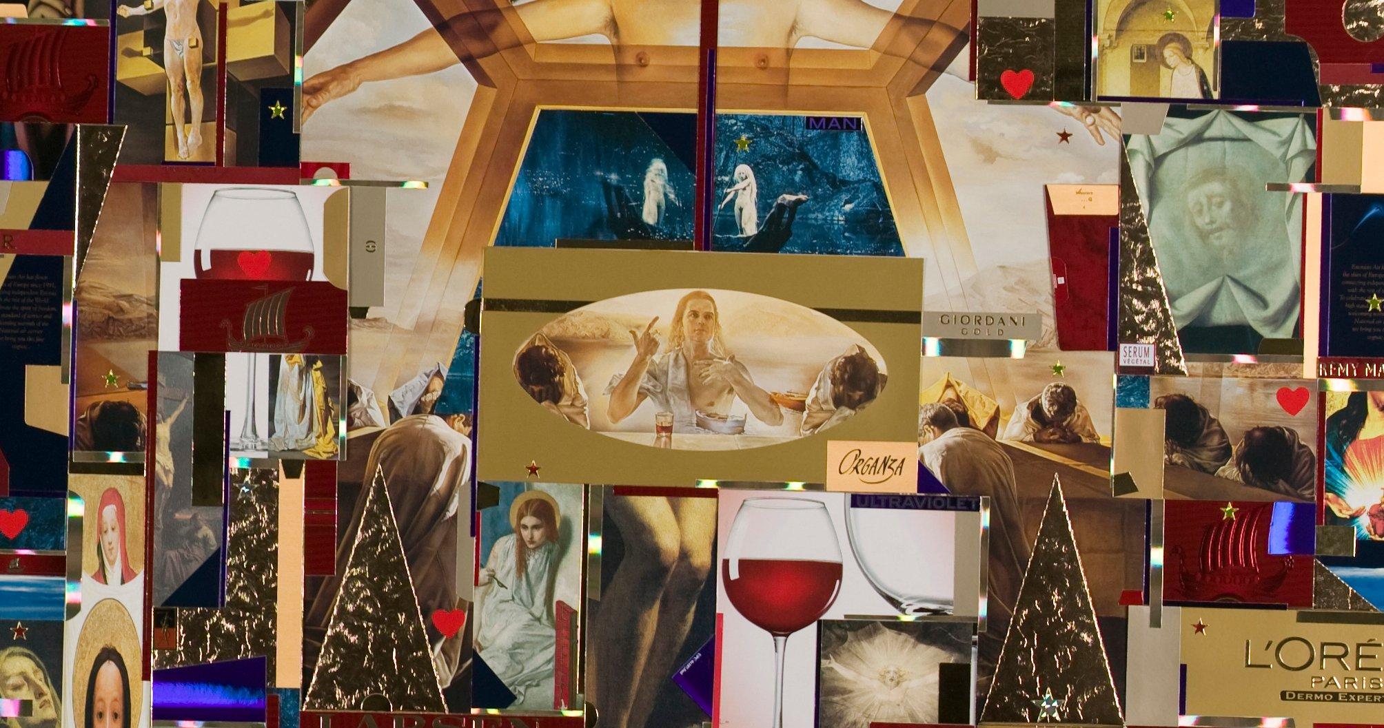 Yksityiskohta kuvataiteilija Lenhard Lapinin teoksesta Jeesu Kristus superstar II, installaatio vuodelta 2006.
