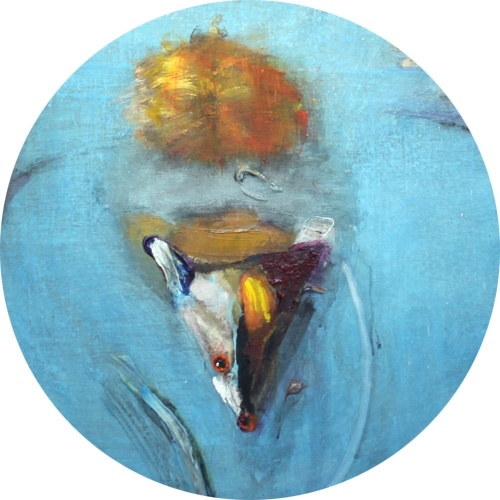 Yksityiskohta taidemaalri Tiit Pääsuken teoksesta.