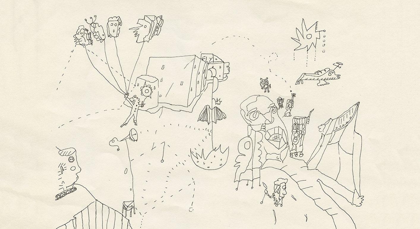 Taidekriitikko Otso Kantokorven piirustus nuoruusvuosilta.