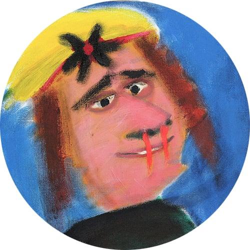 Yksityiskohta taidemaalari Paavo Paunun teoksesta.