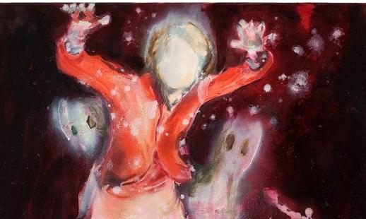 Taidemaalari Anna Tuorin teos Fugitive Kind, öljy kanaalle vuodelta 2006.