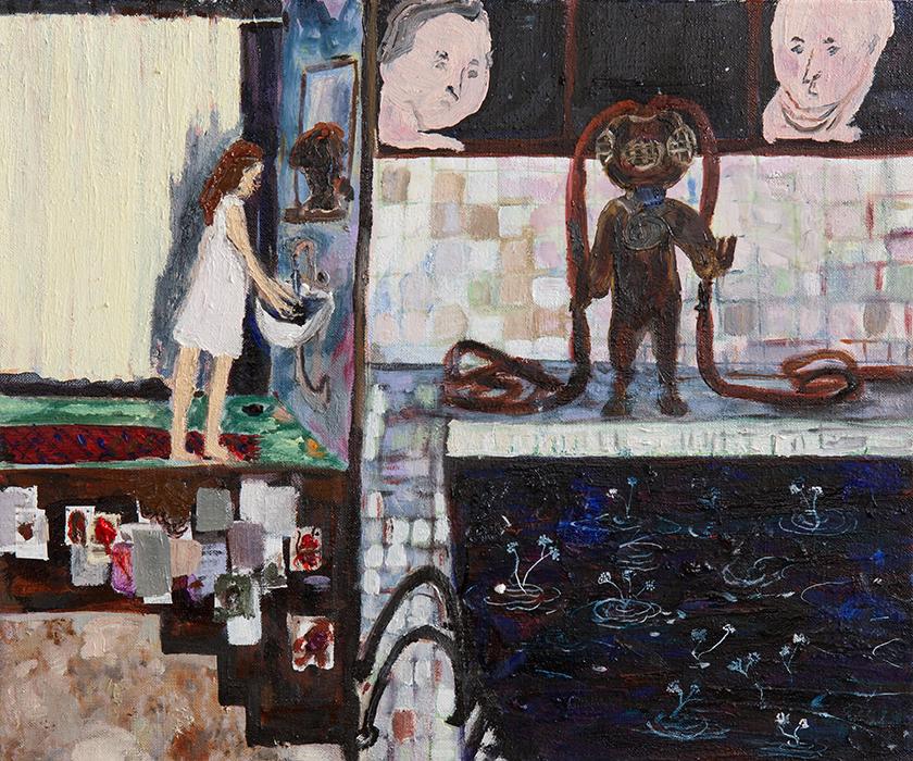 Taidemaalari Eeva Peuran teos Rakkaus vie meitä moniin paikkoihin, 2021, öljyväri kankaalle.