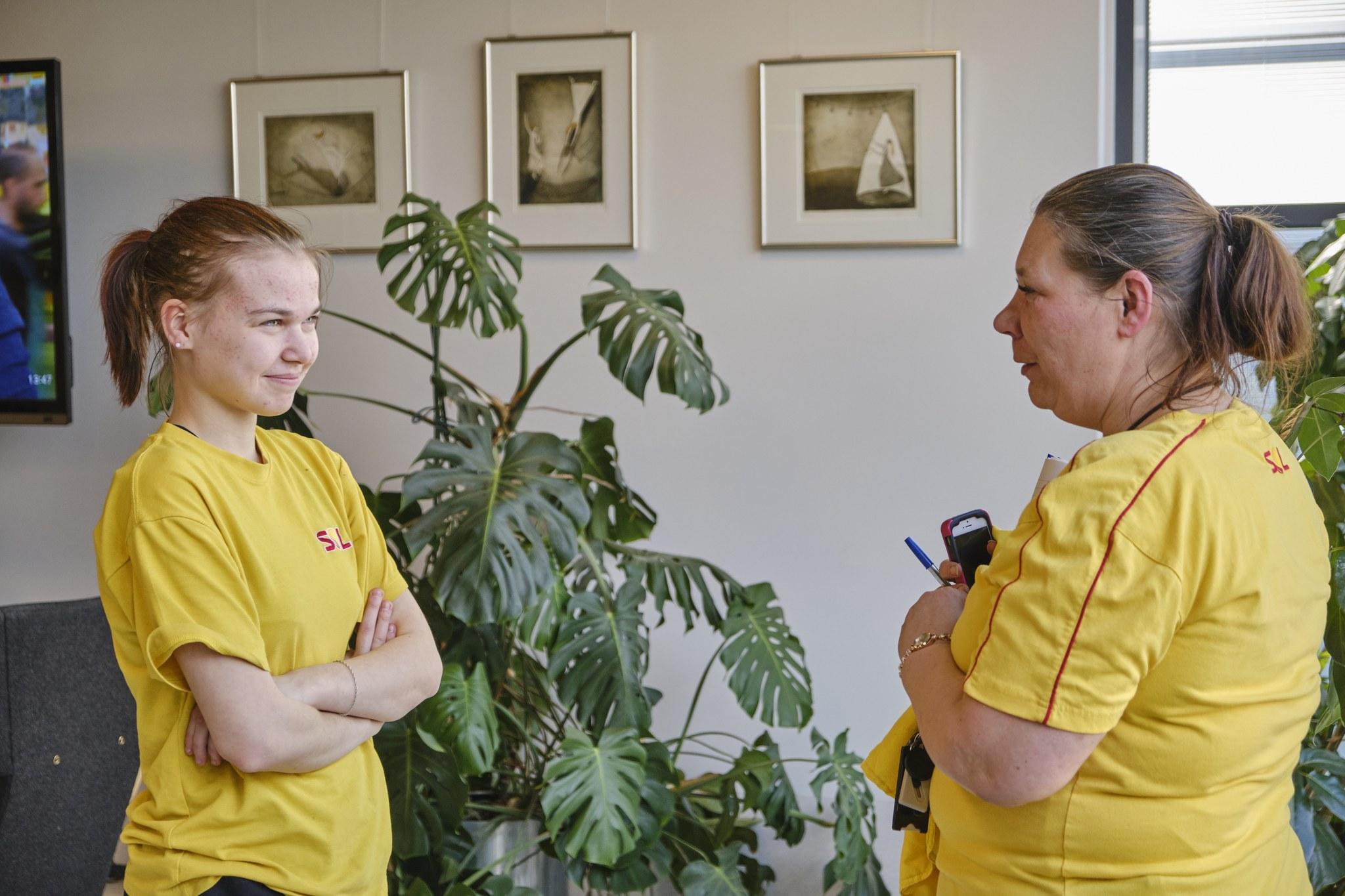 Tina Andersson toimii Annan työpaikkaohjaajana SOL-polussa